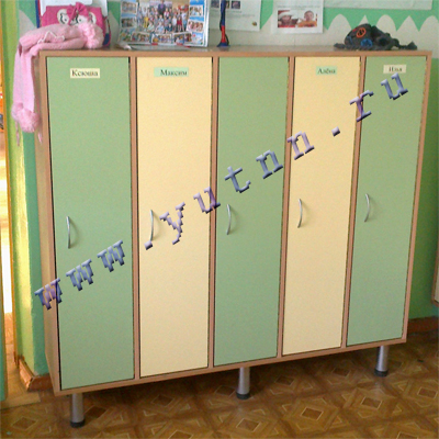 Шкафы раздевальные для детского сада